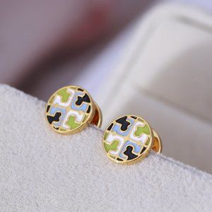 🎁Tory Burch Simple And Stylish Two-Color Earrings